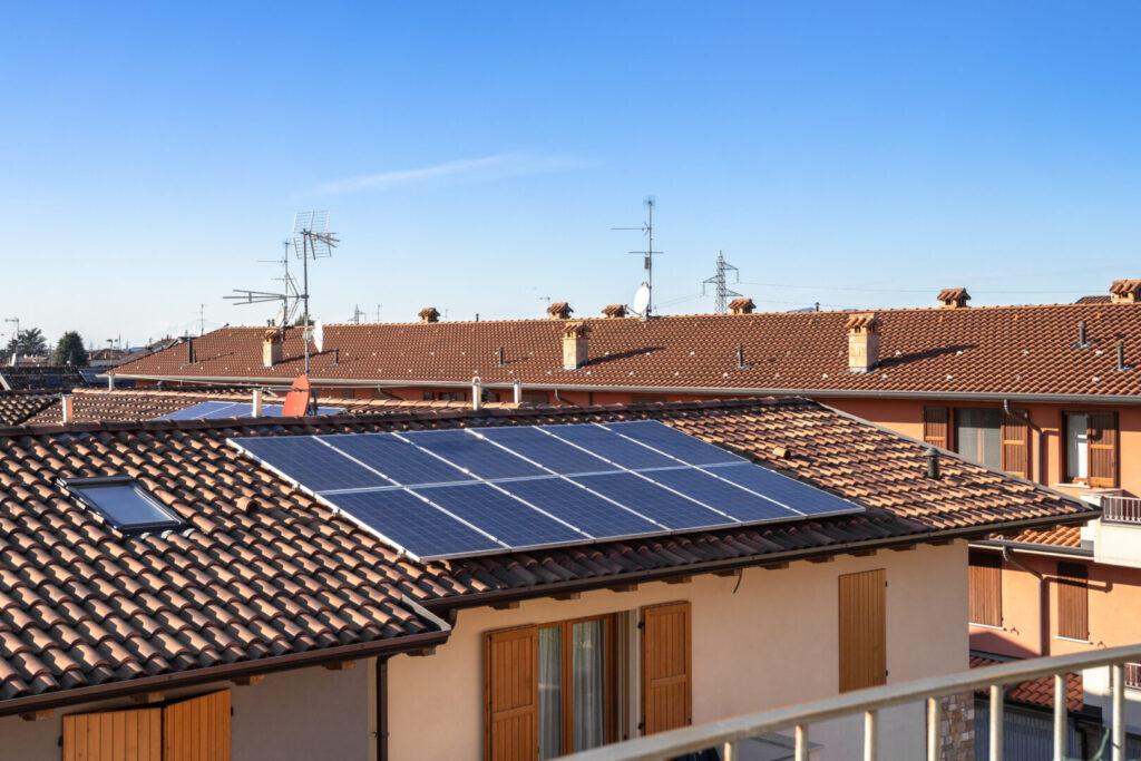 Pannello fotovoltaico sul tetto